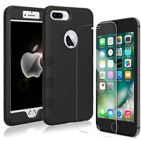 Shockproof Rugged Hybrid Hard Armor Case Cover + Films For iPhone 6 6s 7 8 Plus