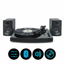 """mbeat Vinyl Turntable Set With Bluetooth & Speakers 12"""" LP Player Combo Mb-tr518"""