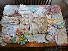64Vintage+Handmade+Crochet+Lace+Doilies+Pot+Holders+