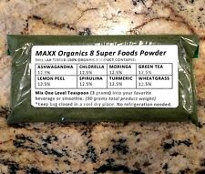 MAXX Organics 8 Super Foods Powder 30 Day Supply ** Compare Patriot Power Greens