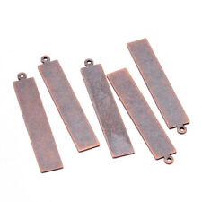"""20pcs Red Copper Brass Metal Tags Pendants Stamping Blank Engraving Charms 1.6"""""""