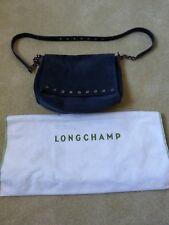Longchamp Paris Rocks Suede Shoulder Bag Navy