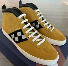 $650 Bally Vita Parcours 24 Yellow Suede High Tops Sneakers size US 14