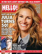Hello Canada Exclusive Magazine Julia Roberts turns 50 2017 Oct #579  Brand New
