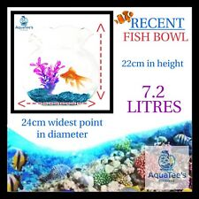 RECENT FLUTED Fish bowl 7.2 LITER NANO AQUARIUM FISH TANK NO WATER PUMP FILTER