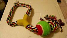 Jumbo Dog Toys_Tennis Ball Tug Rope