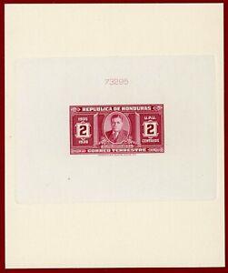 Honduras 1935 #329, Sunken Die Proof, President Carias, ABNC