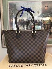 💙Dust Bag 💙Louis Vuitton 💙Saleya MM 💙Damier Ebene Shoulder LV Tote Handbag
