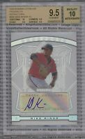 MIKE MINOR ROOKIE 2009 Bowman Sterling AUTOGRAPH BGS 9.5 GEM MINT AUTO 10 Braves