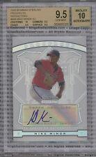 MIKE MINOR ROOKIE 2009 Bowman Sterling AUTOGRAPH BGS 9.5 GEM MINT AUTO 10 Braves