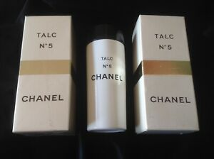 CHANEL No5 TALC 100g 1 Sealed Box & 1 Opened.