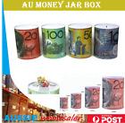 Money Tin Australian Box Jar Piggy Bank Coin 10 20 50 100 Dollar Notes AU Design