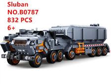 0787 Sluban Blocks DIY Kids Building Toys Boys Puzzle Transport Vehicle 832 pcs