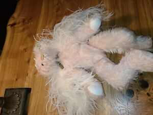 """Annette Funicello Collectible Bear 18"""" Pink Mohair White Wings Angel Bear #4"""
