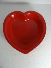 Heart Shaped Red Ceramic Baking Dish