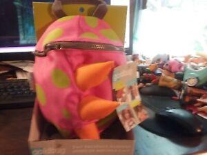 Goldbug 2 in 1 Safety Harness & Backpack Buddy Pink Green Orange Dinosaur Dino