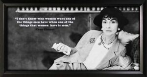 Coco Chanel Framed Photo Motivational Poster
