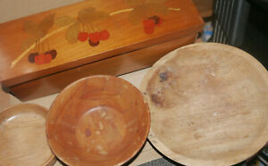 Wood Bowls and Box - All need attention