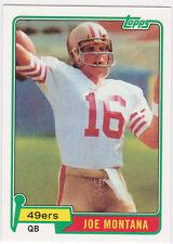 Joe Montana RP RC Topps Football ROOKIE CARD San Francisco 49ers #16 NFL HOFer
