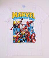 Marvel Comics Super Heroesl Mens T-Shirt NWT White Size Medium