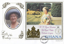 (74205) Ghana FDC Queen Mother 99 Years Lady of Century Accra 4 August 1999