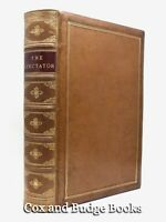 ADDISON & STEELE The Spectator c1870 635 issues in a fine leather binding