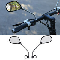 1 Pair Adjustable Rotate Handlebar Glass Mirror Rearview for MTB Bike Bicycle