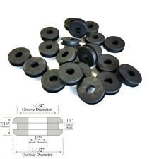 """Lot of 20 Rubber Grommets 1/2"""" ID - 1/4 GW - Fits 1-1/4"""" Panel Hole"""