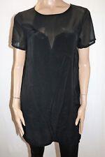 MINKPINK Designer Black 'Stitch Me Up' Shift Dress Size M BNWT #TN26