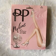 vintage pretty polly nylon pantyhose tights w/ model size med
