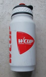 Bicycles water bottle Tacx WCUP road bike pro team cycling 2006 white red