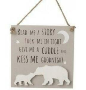 wooden kiss me goodnight sign