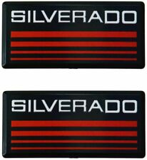2x Cab Emblems 3d Badge Side Roof Pillar Decal Plate For Chevy Silverado Red