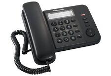 TELEFONO ANALOGICO CON FILO PANASONIC MODELLO KX-TS520EX,COLORE NERO, NUOVO