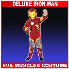 IRON MAN DELUXE EVA AVENGERS CHILD FANCY DRESS COSTUME 3-8 YRS,