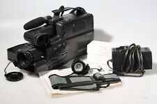 FLYING ERASE HEAD VHS POWER ZOOM CAMCORDER W/ ACCESSORIES IN CASE
