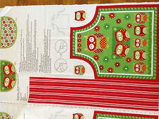 Print fabric(Owl Christmas-Kids Apron)