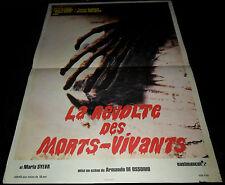 1971 La noche del terror ciego ORIGINAL FRENCH POSTER Amando Ossorio ZOMBIES