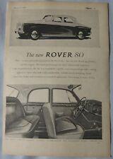 1960 Rover 80 Original advert