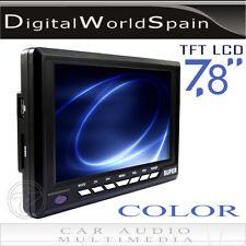 """MONITOR DE 7.8"""" TFT LCD PARA COCHE CON USB LECTOR TARJETAS SD.ENVIO GRATIS 24H"""