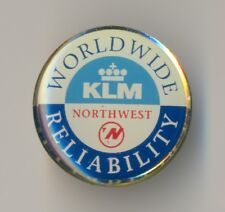 KLM & Northwest Airlines Worlwide Reliability LOGO Badge