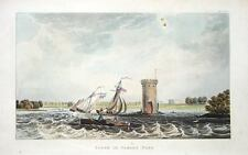 CHESHIRE, TABLEY HOUSE MERE, KNUTSFORD Ackermann Antique Print1823