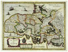Pays de Caux Normandy Seine Maritime Haute-Normandie France map Hondius ca.1633