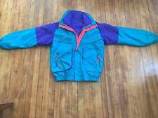 Vintage 1991 Columbia Powder Keg Ski Jacket Mens Tall Medium Teal Pink Purple