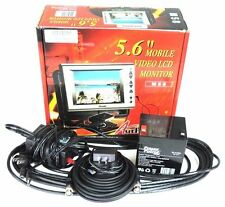 """NEW MOBILE AUTHORITY 5.6"""" MOBILE VIDEO LCD MONITOR M58, SLCD-560R, & ACCESSORIES"""
