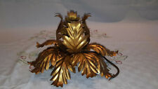 applique plafonnier metal fleur doree 30cm annee 70 style jansen masca italie