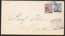 Netherlands Indies 1902 uprated cover Garoet to Leiden