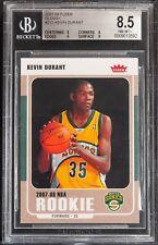 2007-08 Fleer glossy Kevin Durant bgs 8.5 rookie