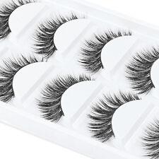 10x/1Set Handmade Natural Thick Fake False Eyelashes Eye Lashes Makeup Extension