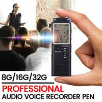 32G Voice Recorder Dictaphone Activated Mini Spy Digital Sound Audio MP3 Player